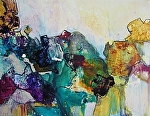 "Boulder Jazz by Sue Martin Acrylic ~ 13.5"" x 10.5"""