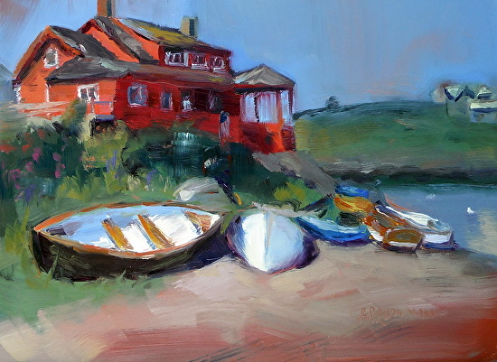 Good Morning Monhegan - Oil
