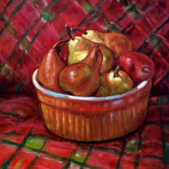 Christmas Pears work on again -