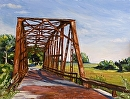 "Rock Creek Bridge-Route 66 by Maria Trapani Oil ~ 9"" x 12"""