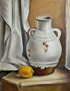 "White Pot and Lemon by Maria Trapani Oil ~ 20"" x 16"""