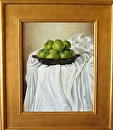 Green Apples in Dish by Maria Trapani Oil ~ 20 x 16""