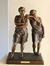 "Friendship by Maria Trapani Bronze ~ 18"" x"