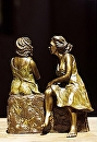 "Gina and Sophia by Maria Trapani Bronze ~ 10"" x"