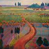 Road through Autumn Field