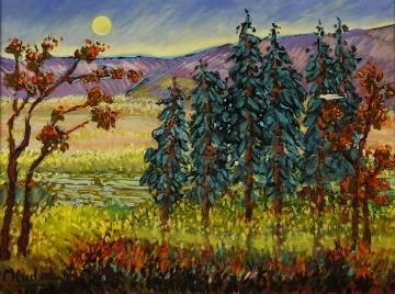 Trees in Landscape by Mary Bechtol Oil ~ 16 x 20