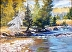Calm River by Geri Jensen