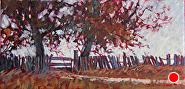 Fenceline by Sara Winters Oil ~ 6 x 12