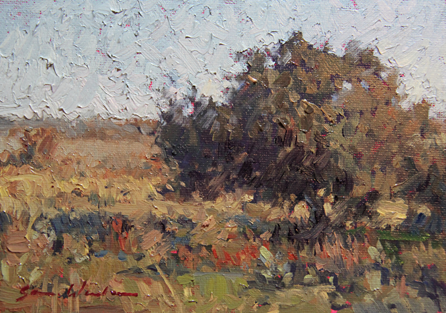 Country Hours by Sara Winters Oil ~ 5 x 7