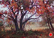 Nye On Autumn by Sara Winters Oil ~ 5 x 7