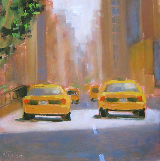 Taxis heading Uptown - Oil