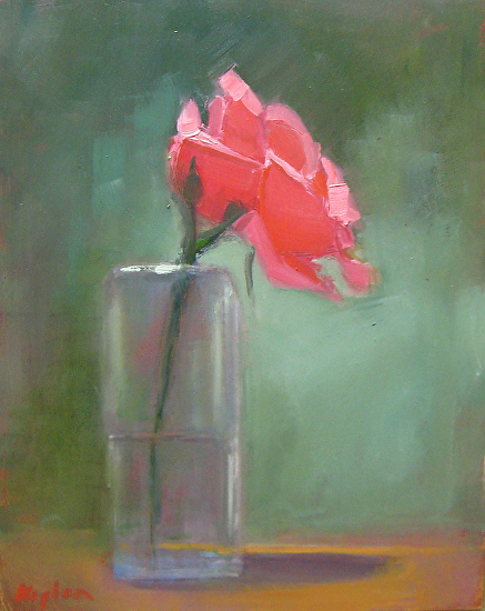 Rose in a Glass - Oil