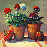 Geraniums by Trisha Adams Oil ~ 20 x 20