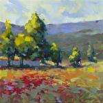 Wild Poppies by Trisha Adams Oil ~ 30 x 30