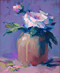 Pink Rose by Trisha Adams Oil ~ 10 x 8