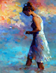 Evening Shellseeker by Trisha Adams Oil ~ 40 x 30