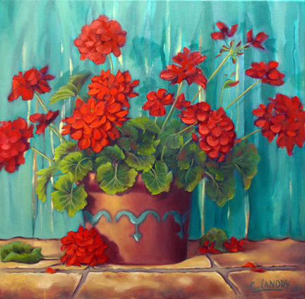 My Gerainiums - Oil
