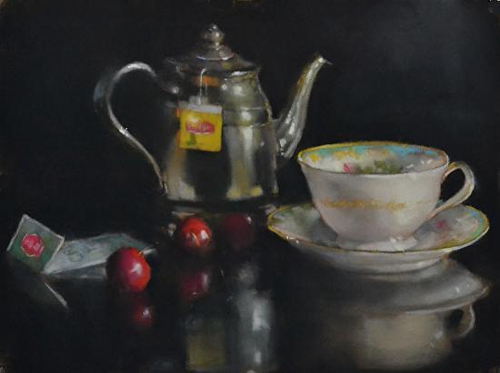 Silver Teapot - Pastel