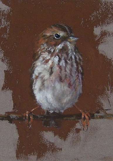 """Hanging Tight by Mike Beeman Pastel ~ 7"""" x 5"""""""