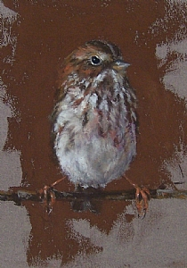 "Hanging Tight by Mike Beeman Pastel ~ 7"" x 5"""