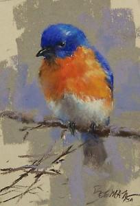 "Bluebird by Mike Beeman Pastel ~ 7"" x 5"""