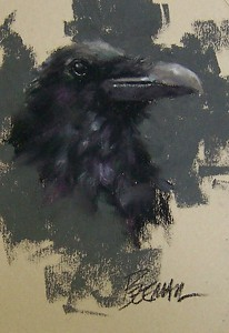 "Raven by Mike Beeman Pastel ~ 7"" x 5"""