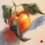 "Satsuma in Sun by Julie Kirkland Oil ~ 6"" x 6"""