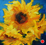 Sunshine Petals by Julie Kirkland Oil ~ 6 in. x 6 in.
