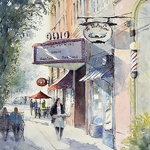 Judy Mudd - NEW! Online Watercolor Workshop - Sidewalk Scenes