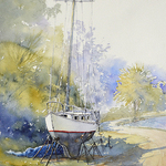 "Judy Mudd - NEW! Online Watercolor Workshop ""Waiting"""