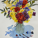 Judy Mudd - NEW!  Online Watercolor Workshop Impressionistic Florals