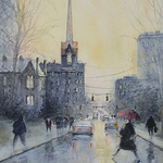 Judy Mudd - Live-Online! Watercolor Workshop-City Rain