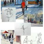 Judy Mudd - FULL! Beginners Watercolor Workshop - Adding People to Paintings