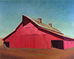 "Red Barn by Jeff Daniel Smith Oil ~ 48"" x 60"""