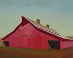 "Red Barn by Jeff Daniel Smith Oil ~ 24"" x 30"""