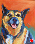 "Rons Dog by Cyndra Bradford Paintings Oil ~ 20"" x 16'"