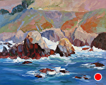 "Highway one Coast by Cyndra Bradford Paintings Oil ~ 48"" x 60"""