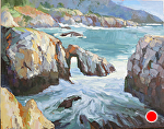 "Highlands Coast by Cyndra Bradford Paintings Oil ~ 48"" x 60"""