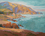 "Rocky Point Sunset by Cyndra Bradford Paintings Oil ~ 48"" x 60"""