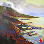 "Abstracted Coast by Cyndra Bradford Paintings Oil ~ 60"" x 60"""