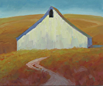 "Lone Barn by Jeff Daniel Smith Oil ~ 30"" x 36"""