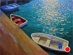 "Row Boats by Jeff Daniel Smith Oil ~ 36"" x 48"""