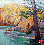 "Point Lobos by Cyndra Bradford Paintings Oil ~ 60"" x 60"""