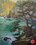 "Morning Point Lobos by Cyndra Bradford Paintings Oil ~ 60"" x 48"""