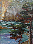 "Point Lobos Morning Study by Cyndra Bradford Paintings Oil ~ 24"" x 18"""
