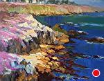 "Pacific Grove Pink by Cyndra Bradford Paintings Oil ~ 48"" x 60"""