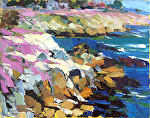 "Plein Air Study for Pacific Grove Pink by Cyndra Bradford Paintings Oil ~ 24"" x 30"""