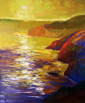 "Big Sur Gold by Cyndra Bradford Paintings Oil ~ 72"" x 60"""