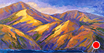 "San Francisco Coast by Cyndra Bradford Paintings  ~ 36"" x 72"""