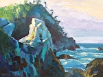 "Point Lobos Rocks by Cyndra Bradford Paintings Oil ~ 30"" x 40"""